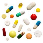 Cuántas píldoras coloridas — Foto de Stock