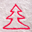 Stock Photo: Christmas tree symbol