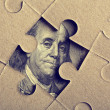 Stock Photo: Jigsaw puzzle with Franklin