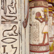 Egyptian wall paintings - Stock Photo