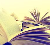 Böcker närbild — Stockfoto