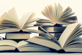 Books closeup — Stockfoto
