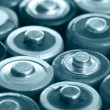 Stock Photo: Many batteries