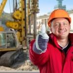 Happy worker — Stock Photo