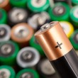 Closeup of battery - Stock Photo