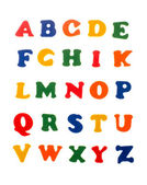 Colorful letters of alphabet — Stock Photo