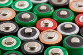 Many colorful batteries — Stock Photo