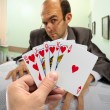 Business poker - Foto Stock