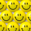 Stock Photo: Yellow smileys