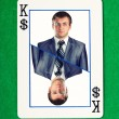 King of dollars gambling card — Foto de Stock