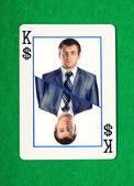 Král dolarů hazard karty — Stock fotografie