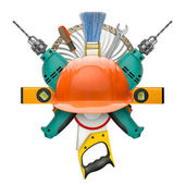 Industrial symbol of tools — Stock Photo