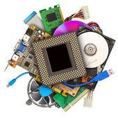 计算机硬件的堆 — 图库照片