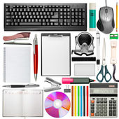 Uppsättning av kontorsmaterial — Stockfoto