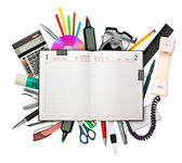 Business diary and stationery — Stock Photo