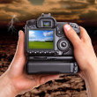 Stock Photo: Capturing beautiful landscape against dramatic area