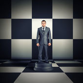 Figurine of businessman — Stock Photo