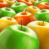 Colorful apples — Stock Photo