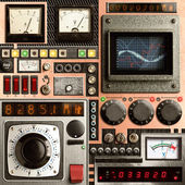 Vinatge kontrol paneli — Stok fotoğraf