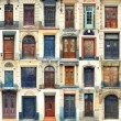 Stock Photo: Collection of old doors