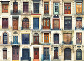 Collection of old doors — Stock Photo