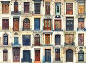 Colección de puertas de madera — Foto de Stock