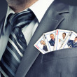 Business team cards — Stock Photo