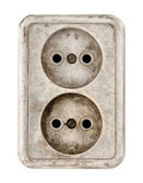 Old dirty electrical outlet — Stock Photo