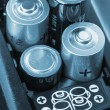 Loading batteries - Stock Photo
