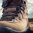 Hiking boot outdoor — Stock Photo