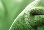 Green soft synthetic fleece — Stock Photo