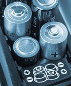 Loading batteries — Stock Photo