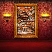 экспозиция битым кирпичом стены — Стоковое фото