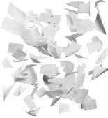 Létající obchodní dokumenty — Stock fotografie
