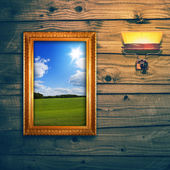 Idyllic landscape exposition — Stock Photo
