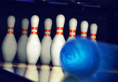 Bowling action — Stock Photo