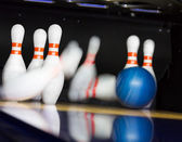 Bowling-aktion — Stockfoto