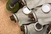 Old gas masks — Stock Photo