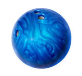 Blue bowling ball — Stock Photo