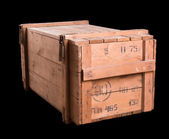 Old military wooden box — Stock Photo
