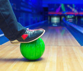 Strike on a bowling ball — Stock Photo