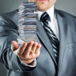 Businessman with documents — Stock Photo #23716383