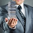 Stock Photo: Businessmwith documents