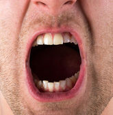 Screaming mouth — Stock Photo