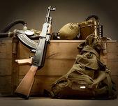 Alte udssr militärische ausrüstung — Stockfoto