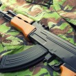 Assault rifle AK-47 — Stock Photo
