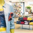 Stock Photo: Casual clothing store