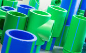 Polymer pipes — Stock Photo
