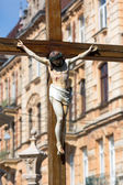 Monument of Jesus crucifixion — Стоковое фото