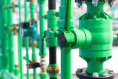 Pipes and valves — Stock Photo